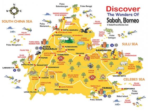 Turen Gik Til Malaysia Borneo